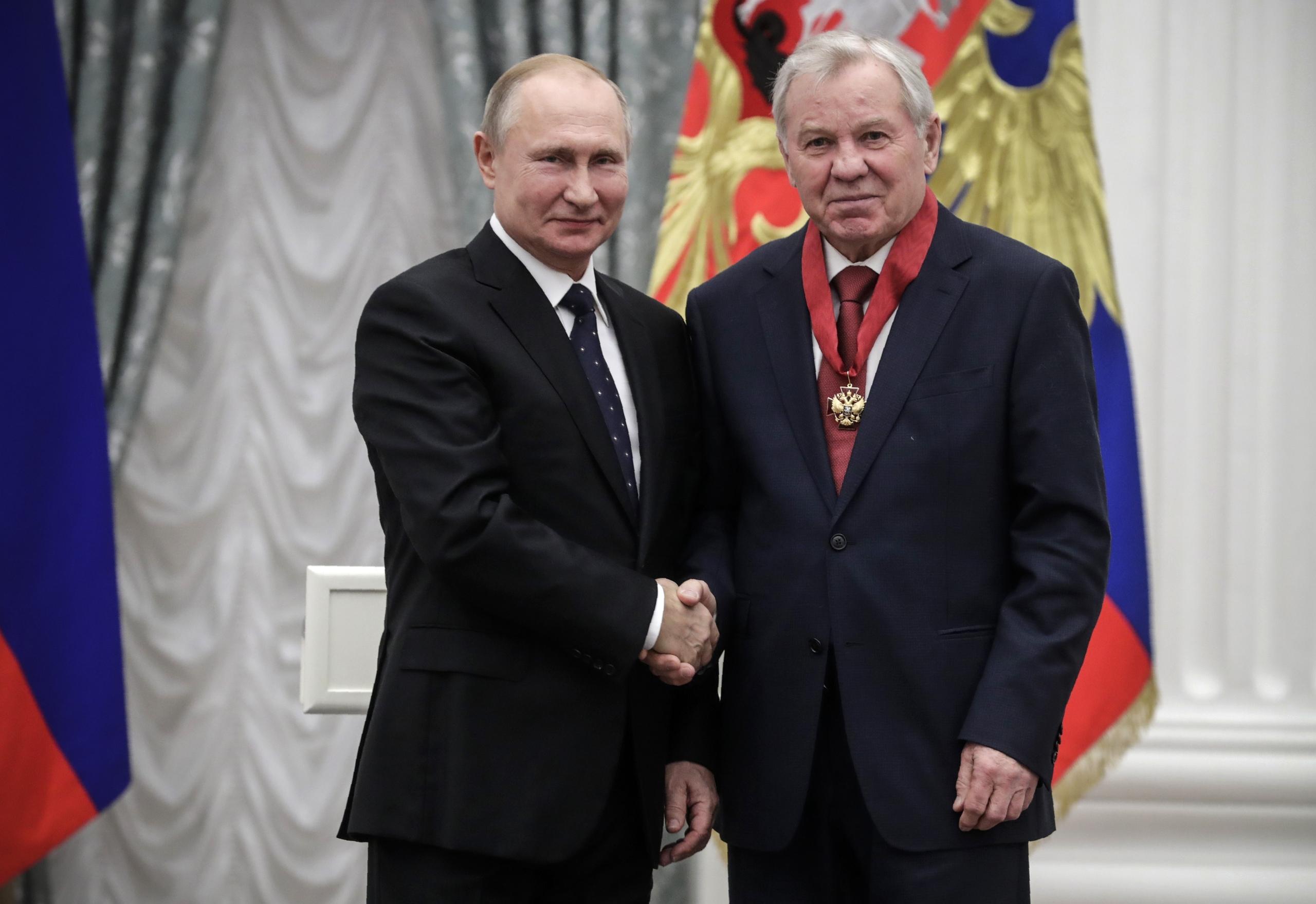 Владимир Путин и Борис Майоров