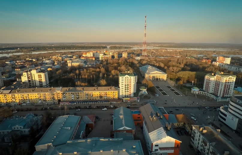 Вид на парк им. Ю. А. Гагарина.